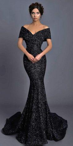 33 Beautiful Black Wedding Dresses That Will Strike Your Fancy - Wedding Dresses Guide Wedding Dress Black, Fancy Wedding Dresses, Wedding Dress Styles, Elegant Dresses, Beautiful Dresses, Wedding Gowns, Black Gala Dress, Fancy Gowns, Bridal Gowns