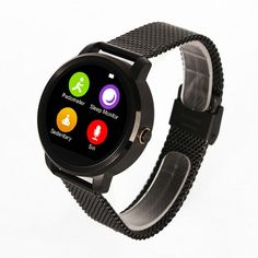 88.19$  Watch now - http://ali7x9.worldwells.pw/go.php?t=32726840649 - Hot sale! Round Smartwatch V360 Calorie Pedometer Sleep Monitor Pedometer Remote Control Voice Control Bluetooth4.0 For Android 88.19$