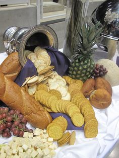 Royal Catering Buffet Set Up Cheese Fresh Fruit