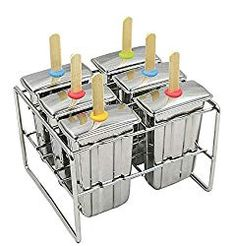 G.YO Ice Lolly Makers with Platics lid Ice Lolly Moulds Easy to thaw Popsicle Molds Set Green