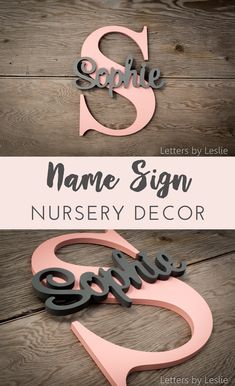 wood name signs nursery diy ~ wood name signs nursery ; wood name signs nursery girl ; wood name signs nursery boy rooms ; wood name signs nursery diy ; wood name signs nursery letters Nursery Signs, Nursery Room, Nursery Name Decor, Babies Nursery, Nursery Letters, Nursery Themes, Letter Wall Decor, Baby Girl Names, My Baby Girl