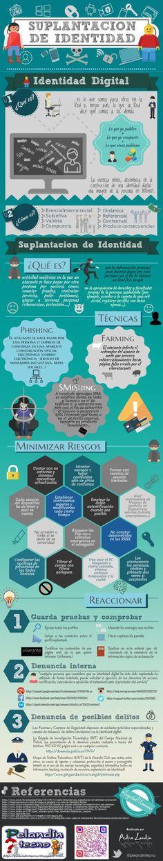 Suplantación de identidad #infografía de @pelandintecno