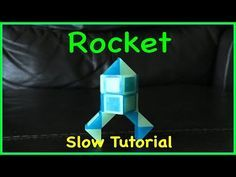 ▶ Rubik's Twist or Smiggle Snake Puzzle Tutorial: How to Make a Rocket Shape - Step by step, SLOW - YouTube