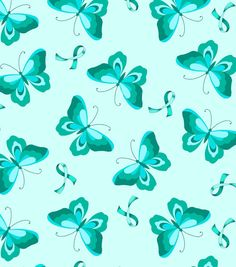 Anti Pill Fleece Fabric-Teal Ribbon N Butterfly 2 Green Backgrounds, Wallpaper Backgrounds, Camo Wallpaper, Blue Wallpapers, Screen Wallpaper, Color Menta, Teal Ribbon, Butterfly Wallpaper, Envelopes