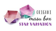 Watch this video to learn how to make a pretty star variation of the origami masu box, instead of folding the flaps in at the end, they are folded back out. ...