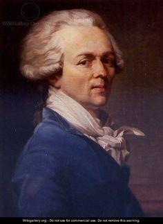 "Portrait Of Maximilien-Francois-Marie-Isidore De Robespierre (1758-1794) by Joseph Ducreux. N.B. He did not make it inside the establishment. Before 1789 he signed himself ""De Robespierre""..."