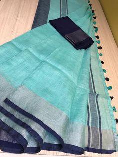 Plain linen sarees are trending now. We sell Linen sarees directly from the weavers. Siri designers sales latest plain linen sarees with best price. Organza Saree, Chiffon Saree, Saree Dress, Saree Blouse, Cotton Sarees Online, Sarees Online India, Cotton Sarees Handloom, Silk Sarees, Bandhani Saree