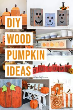Simple DIY Wooden pumpkin decor for your front porch to use up all that scrap wood and pallet wood! Modern and rustic - all styles! #anikasdiylife #falldecor