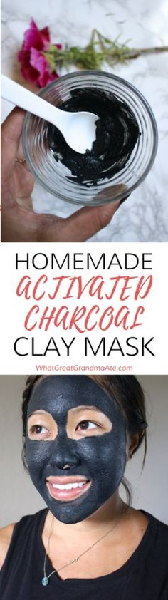 Homemade DIY Activated Charcoal Clay Mask Skin Care