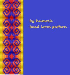 ethnic bead loom pattern142 by Humosh on Etsy