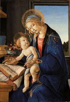 Sandro Botticelli ~ The Madonna of the Book (Madonna del Libro), c.1483 (Museo Poldi Pezzoli, Milan)
