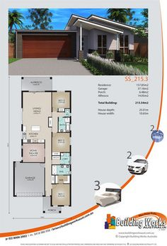 Sprawled across a single level, this home (no.SS_215_3) is a lovely family home with 3 bedrooms, 2 bathrooms, 2 car garage. www.buidingworksaust.com.au #australianhomes #sydneybuilder