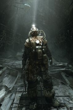 Concept art for Metro Last Light.