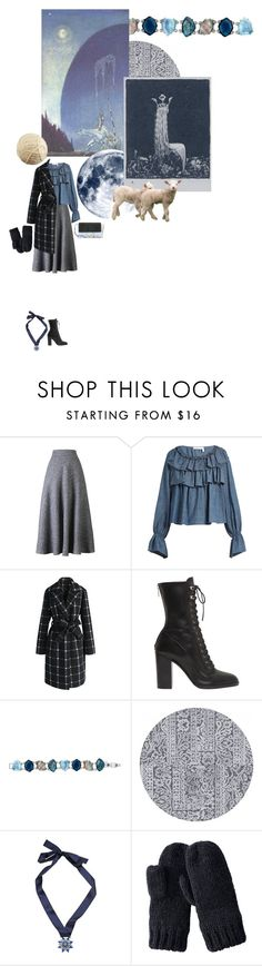 """""""Облачная овечка"""" by anya-moscow ❤ liked on Polyvore featuring WithChic, See by Chloé, Chicwish, Sergio Rossi, Chloe + Isabel, Shourouk, Uniqlo, Chloé, set and look"""
