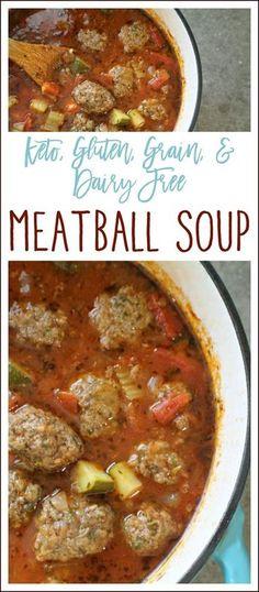 Meatball Soup {Keto,