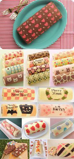estampa em bolos