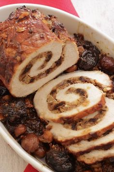 Alla Prova del cuoco : Arrosto di maiale ripieno di frutta e spezie