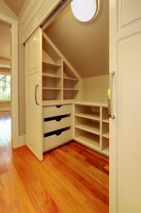 Bedroom – How to Decorate Attic Bedrooms Need more attic bedroom storage? Get the most out of your attic bedroom Need more attic bedroom storage? Get the most out of your attic bedroom Attic Bedroom Closets, Attic Closet, Bedroom Closet Design, Attic Bathroom, Master Closet, Closet Space, Diy Bedroom, Closet Doors, Attic Office