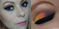 Tutorial de maquiagem colorida para festa neon Link: http://www.blogflordemulher.com.br/2015/03/tutorial-maquiagem-colorida-festa-neon.html