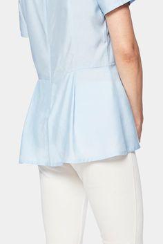 Baby Blue silk top,  Sunna Top, tencel, eco clothing, natural clothing, green clothing, luxury clothing, organic clothing, affordable clothing, eco friendly top, silk top, silk , cotton