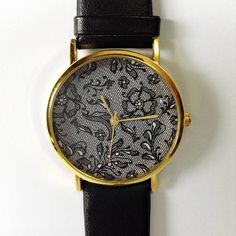 Vintage Lace Watch  Vintage Style Leather Watch Women by FreeForme, $10.00