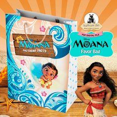 Moana Favor Bag - Moana Birthday Party - Instant Download - Printable Party Bag - Treat Bag - Moana Printables - Moana Party Decor de LythiumArt en Etsy