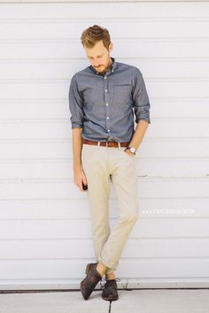 April 19, 2014. Shirt: J. Crew Factory - $29Pants: Old Navy - $27Shoes: Holt - Robert Wayne - (JackThreads)Belt: J. Crew Factory - $22Watch: Timex Easy Reader - Target - $29 with ASOS watch strap //