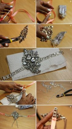 Vintage Style Hair Draping Pearls and Rhinestone Flower Features, Anita. Featured in Elle UK - Great Gatsby Headband diy Great Gatsby Party Outfit, Gatsby Theme, Gatsby Style, Gatsby Dress Diy, Gatsby Wedding, Gatsby Headband, Diy Headband, Flapper Headpiece, Gatsby Hair