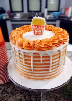 A Whataburger Themed Birthday Party - Life & Lana Boys First Birthday Party Ideas, 10th Birthday Parties, 14th Birthday, Birthday Party Themes, Birthday Cake Decorating, Cookie Decorating, What A Burger, Texas Cake, Burger Party