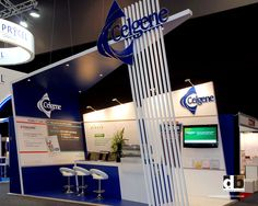 Straight lines does mean boring on a trade show stand.  Angle those lines like this one for Celgene @ HSANZ 2012 for a dynamic look!