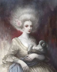 Tom Bagshaw's LULLABY For the Prisma Artist Collectives 'Milk' show at Fine Grime Gallery.