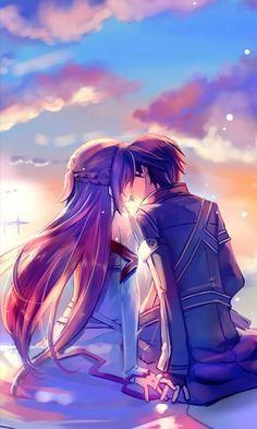Sword art online Asuna & Kirito Kiss :3