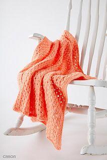 Ravelry: Easy Peasy Baby Blanket pattern by Yarnspirations Design Studio