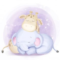 cute baby born elephant and giraffe sleep, Adorable, Animal, Art PNG and Vector Cute Baby Elephant, Funny Giraffe, Cartoon Elephant, Baby Cartoon, Cute Cartoon, Adobe Illustrator, Chat Halloween, Elephant Background, Cartoon Kunst
