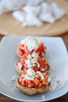 Cretan Dakos with Feta & Tomato
