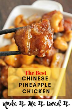 The Best Homemade Chinese Take Out Food You can make yummy and easy Chinese pineapple chicken from home.