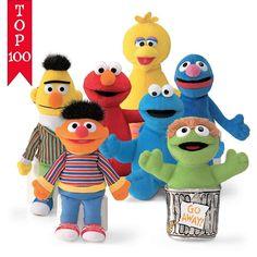 "Sesame Street Set Of 7 Beanbags 7"" Inch Plush Gund NWT #GUND"