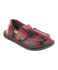 Take a look at this Red Plaid Donny Slip-On Shoe - Toddler & Kids by Sanuk on #zulily today!
