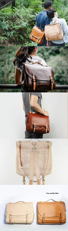 f0d942ea7 Handmade Leather backpack bag shoulder bag black brown for Maletines,  Mochilas, Carteras, Bolsos