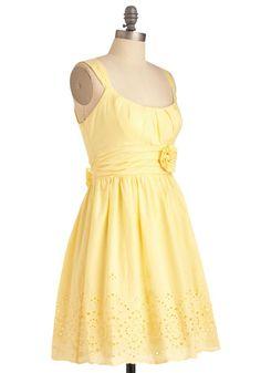 Light yellow summer dresses