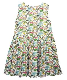"""Liberty London """"Queue for the Zoo"""" Print Dress"""