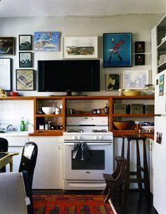 配色趣味的廚房