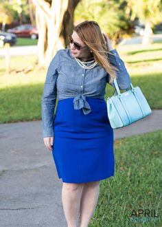 a4ca8e0af3 The perfect way to dress up an adorable chambray button up top.   FashionTips