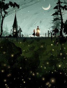 Love this illustration! anne of green gables illustration by hanuol Anne Green, Anne Auf Green Gables, 3d Fantasy, Children's Book Illustration, Halloween Illustration, Illustrators, Cool Art, Concept Art, Art Photography