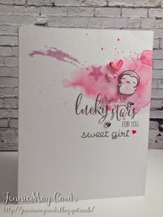 JennieMay Cards: I Thank My Lucky Stars For You Sweet Girl Card