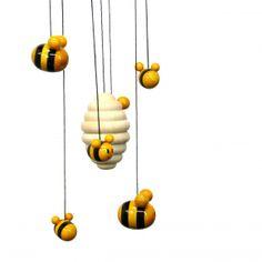 フェアトレード木製玩具|モビール・ビーハイブ|Bee Hive|ゆらゆら揺れる造形美。