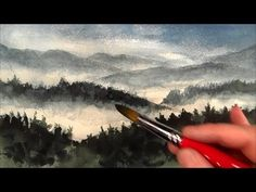 Mountains painting, How to paint landscape