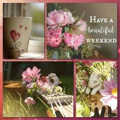 "Pink, ""Have a beautiful weekend"" mood/color collage K. Bon Weekend, Happy Weekend, Happy Day, Beautiful Collage, Beautiful Flowers, Beautiful Life, Collages, Weekend Greetings, Pot Pourri"