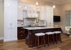 Island Featuring Cambria Countertop And Bremtown Cabinetry