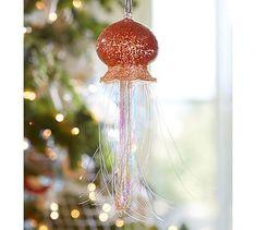 Tinsel Jellyfish Ornament #potterybarn